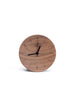 Black Walnut Concave Alarm Clock
