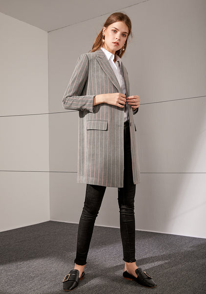 Designer Hand-picked Striped Blazer