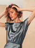 Boat Neckline Blouse Dove Grey