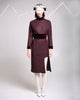 Aubergine Wool Dress