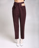 Aubergine Wool Trousers