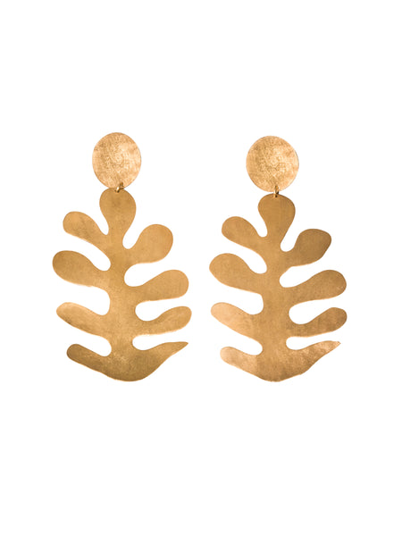 Cut-outs Leaves Earrings