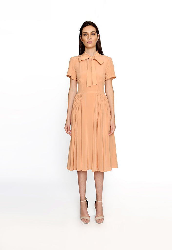 Sherbert Orange Silk Dress
