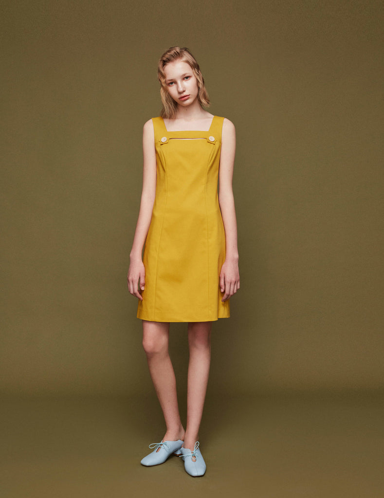 Cutout Yellow Dress