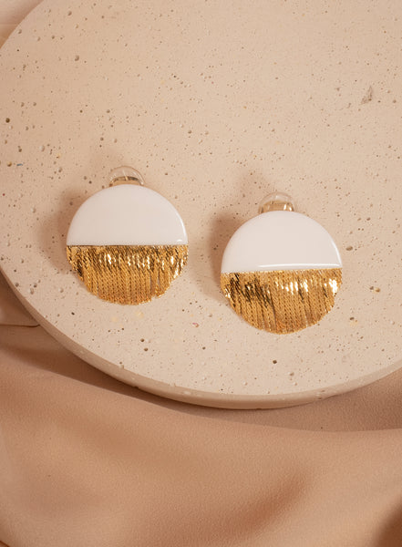 Ocean White Earrings
