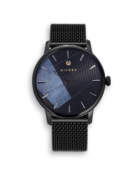 Ontario Black Mesh Watch 40mm