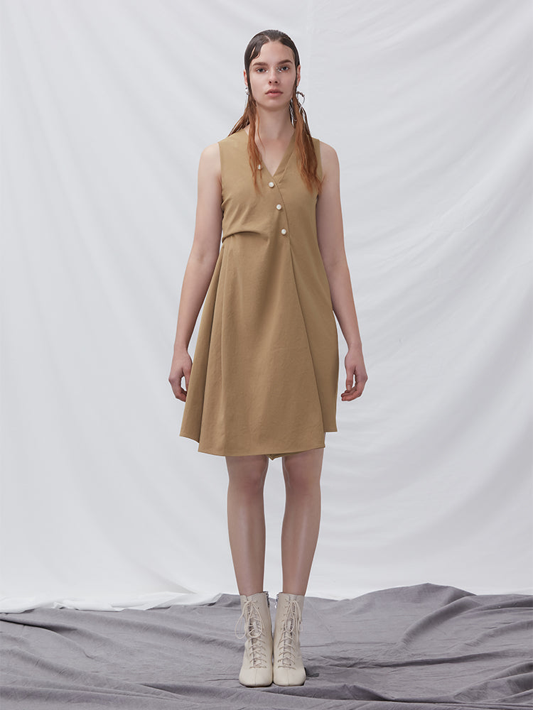 A-line Dress With Fold Detail