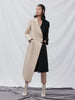 Colour Block Trench Coat