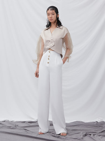 Culottes With Button Detail