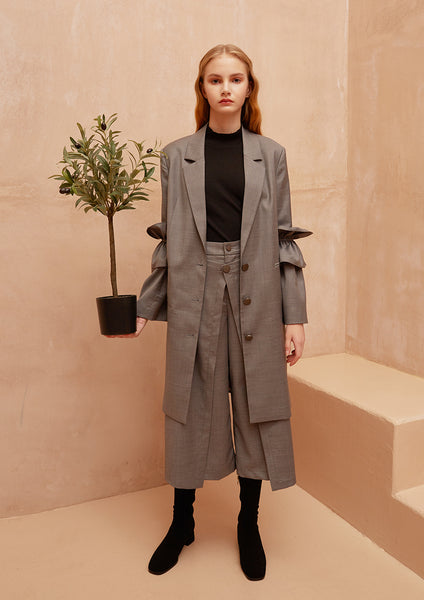 Fashion Boundary Capsule Chic Flair Grey Coat