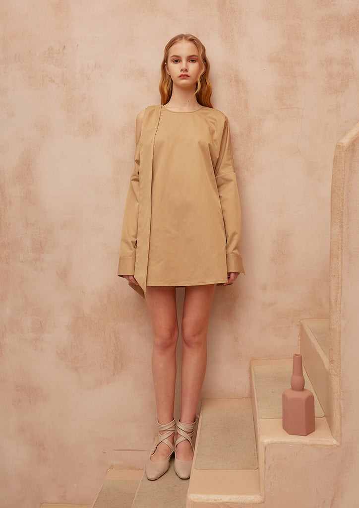 Fashion Boundary Capsule Minimalist Tan Shirt