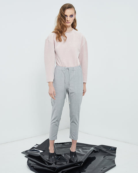 Illusion Top Crinkle Pink Velvet