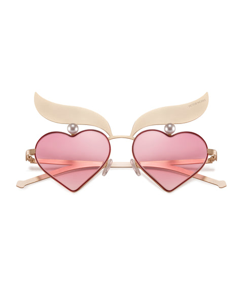Pink Heart Sunglasses VW4002-PINK