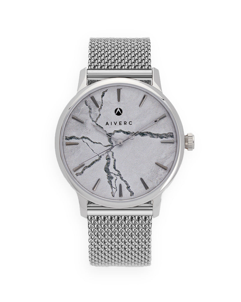 Faena Silver Mesh Watch 40mm