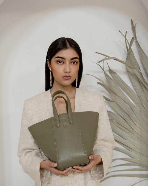 Eight Mini Khaki Bag