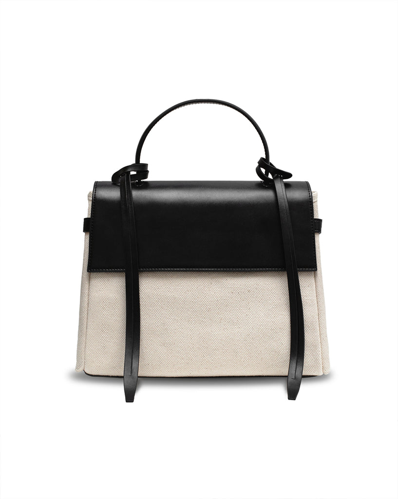 Bank Canvas Black Bag