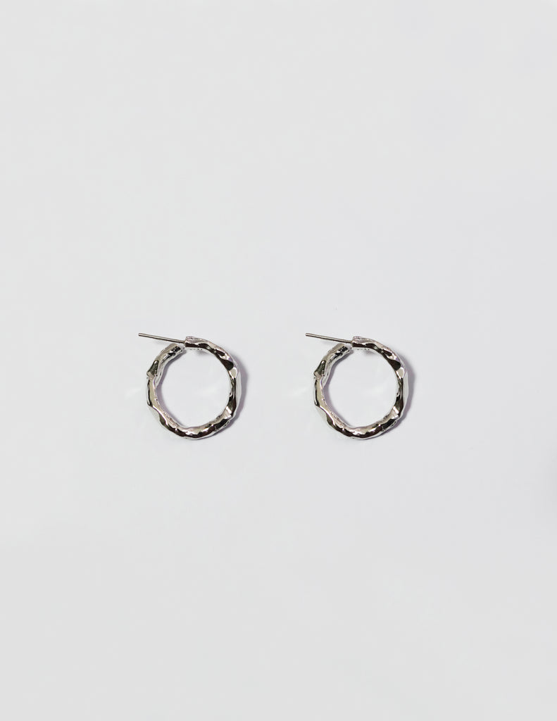 Rough Circle Earring
