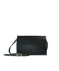 Multi Pouch Black Pebble Grain Leather