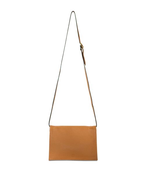 Multi Pouch Tan Pebble Grain Leather