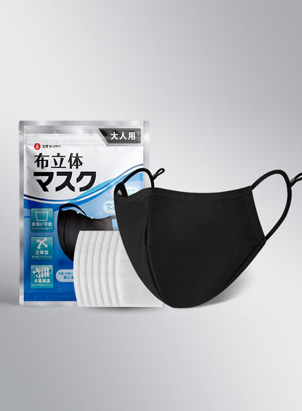 Japanese Reusable Face Mask With Filters