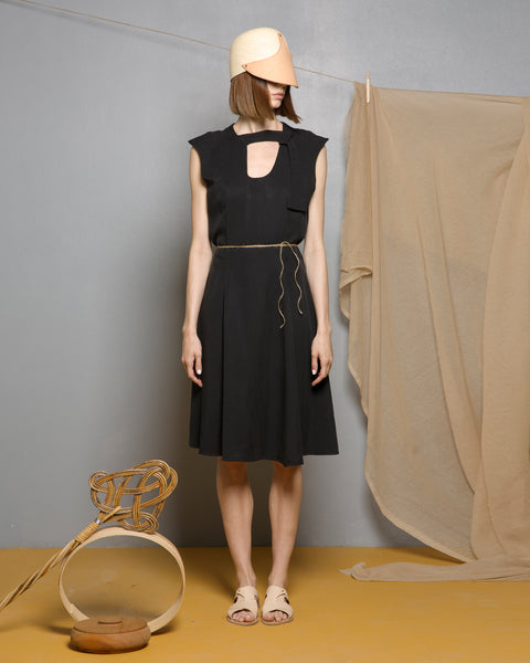 Obsidian Black Tencel Dress
