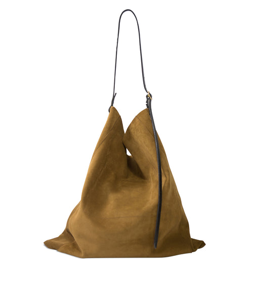 Slouch Pouch Tobacco Suede