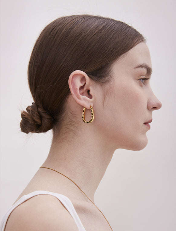 War Horse Gold Plated Earrings
