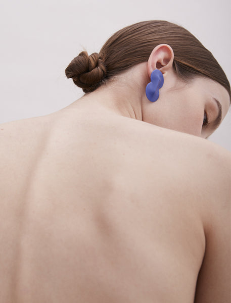 Asymmetric Blue Earrings