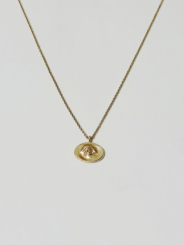 Point Eye Necklace Gold