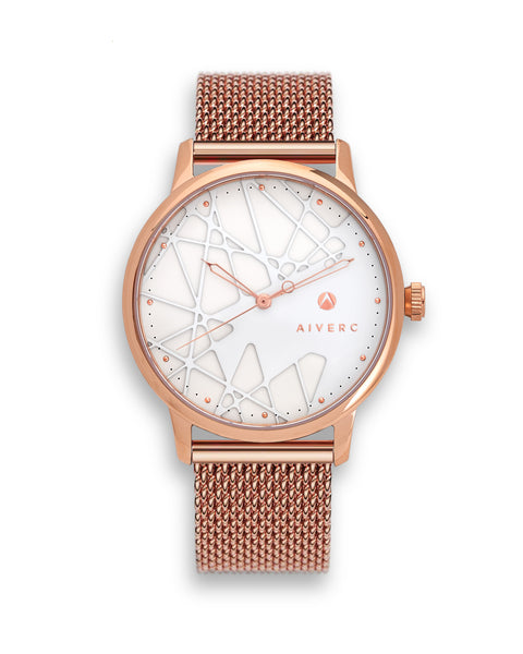 Opera Rose Gold Mesh Watch 40mm