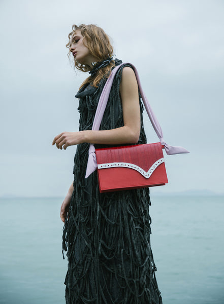 Kitayama & Shone Puipia Rectangular Bag Red