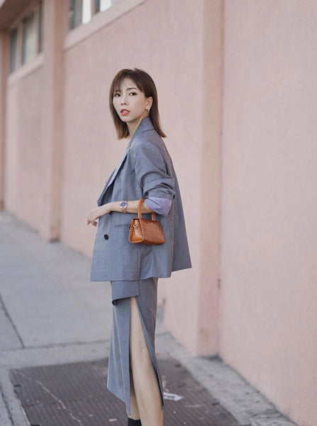Grey Wool Suit - Missanti