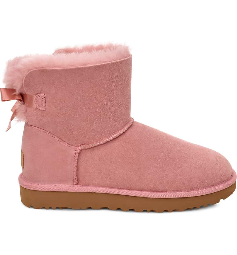 UGG Mini Bailey Bow II Genuine Shearling Bootie - Perriél