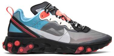 Nike React Element 87 Blue Chill Solar Red - Perriél