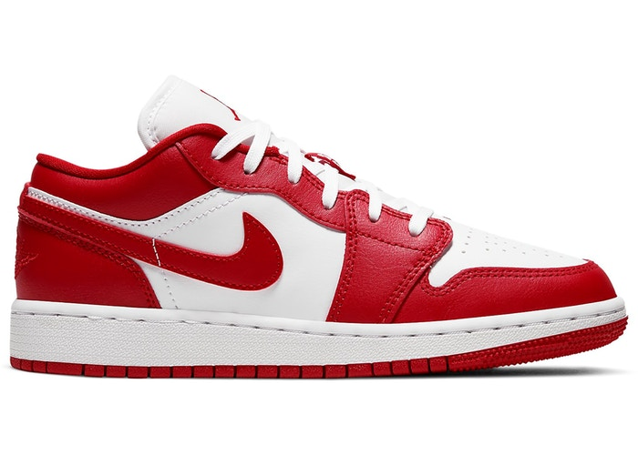 Jordan 1 Low Gym Red White (GS) - Perriél