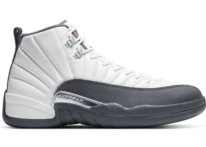 Jordan 12 Retro White Dark Grey - Perriél