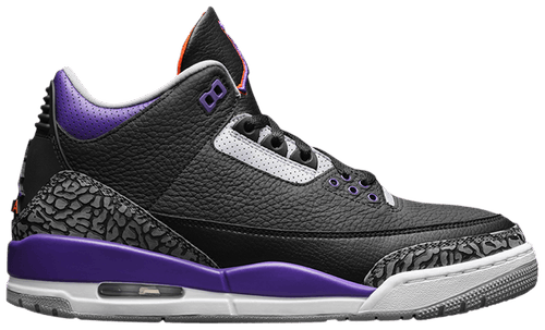 Jordan 3 Retro Black Court Purple - Perriél