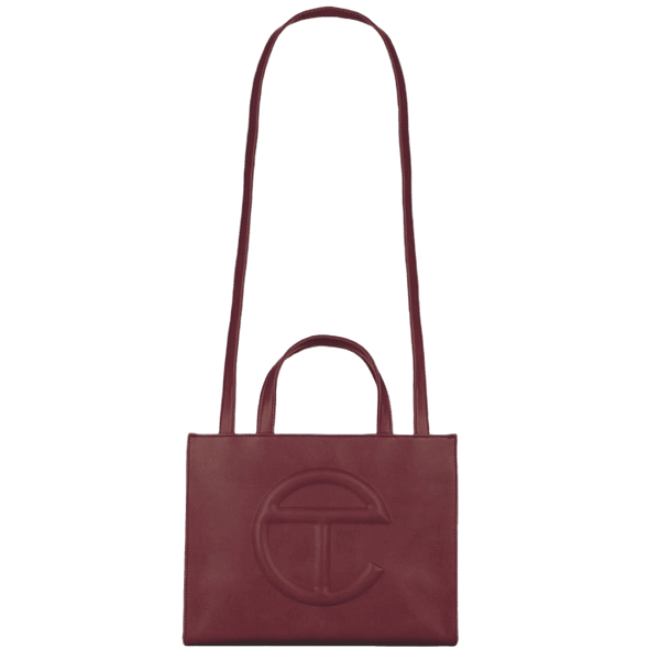 TELFAR Medium Oxblood Shopping Bag
