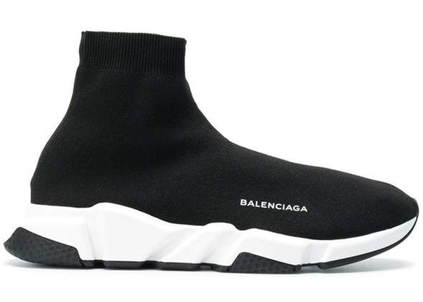 Balenciaga Speed Trainer Black White Black - Perriél
