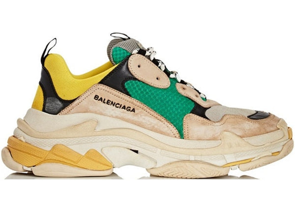Balenciaga Triple S Beige Green Yellow - Perriél