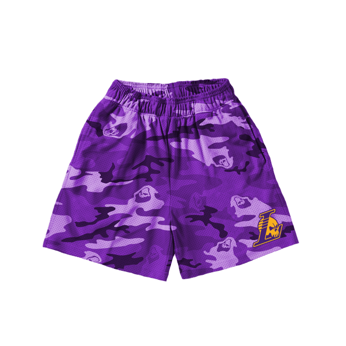 Purple Camo Shorts - Perriél