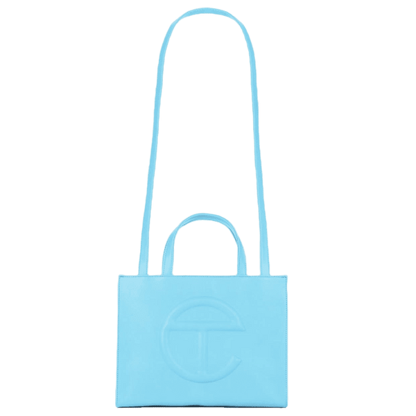 TELFAR Medium Pool Blue Shopping Bag - Perriél
