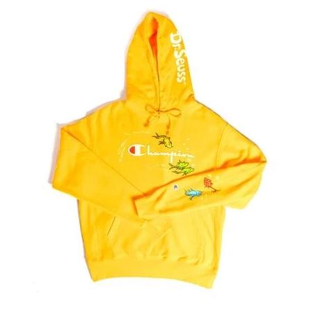 "Champion x Dr. Seuss Reverse Weave Hoodie ""One fish, two fish"" - Perriél"