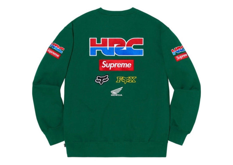 Supreme Honda Fox Racing Crewneck Dark Green - Perriél