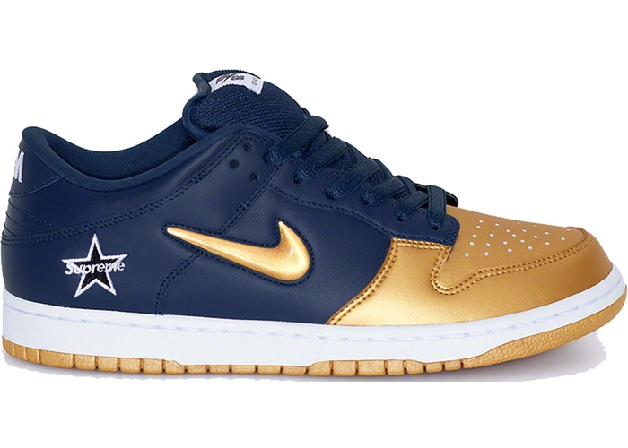 Nike SB Dunk Low Supreme Jewel Swoosh Gold - Perriél
