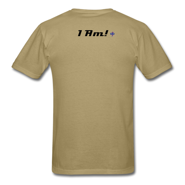 Work In Progress, I Am Men's Custom T-Shirt - khaki