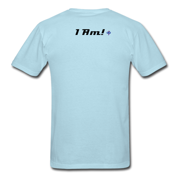 Work In Progress, I Am Men's Custom T-Shirt - powder blue
