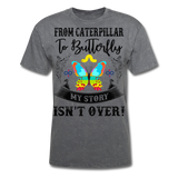 My Story Isn't Over Men's Custom  T-Shirt - mineral charcoal gray