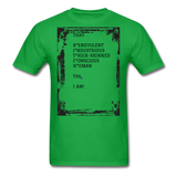 That BITCH Talking Behind My Back Custom T-Shirts for Men & Women - bright green