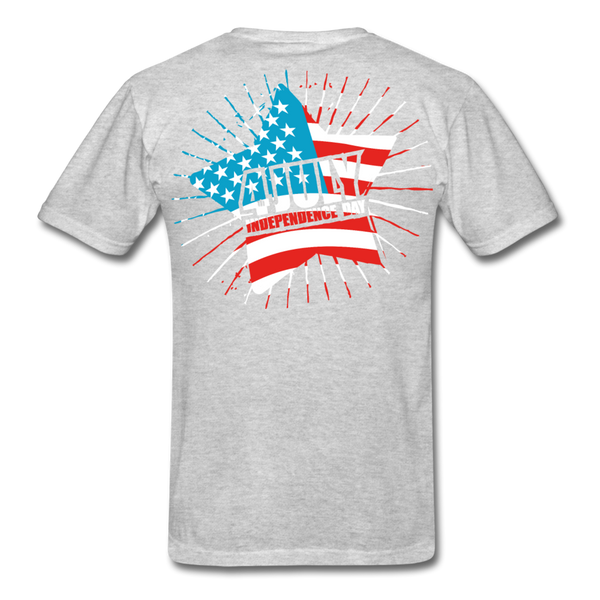 4th of July Independence Day Celebration Custom T-Shirts - heather gray